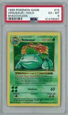 Pokemon Base Set Shadowless Venusaur 15/102 PSA 6