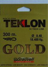 Nylon pêche Grauvell Teklon Gold 300m Diamètre 40/100 résistance 18,4kg