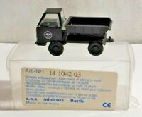 SES MINICARS 1:87 SCALE TIPPER TRUCK - BLACK - 14 1042 03 - BOXED