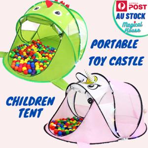 Children Portable Cartoon Tents Folding Play Game House Kids Indoor Room Decor
