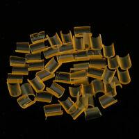 50 Pieces Hair Extension Keratin Bonding Glue Fusion Nail U Tips (Yellow)