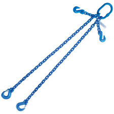 "5/16"" x 4' G100 Adjustable Chain Lifting Sling with Sling Hook Double Leg"