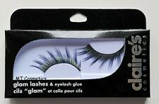 Claire's Cosmetics Glam Lashes False Eyelashes Purple Green Halloween Festival