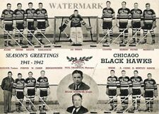 NHL 1941 - 42 Chicago Black Hawks Team Picture  8 X 10 Photo FREE SHIPPING