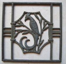 Ancienne Grille plaque Pareclose en Fonte Décoration Architecture Phénix Gauche
