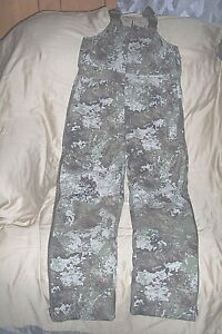 Boys Large Insulated Hunting Bib Overalls Camouflage Coveralls Strata Camo Bibs