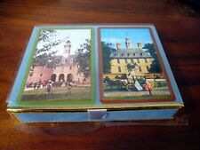 Playing Cards Congress Capitol Williamsburg Cel-u-tone Finish 2 pack NEW SEALED