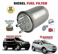 FOR SSANGYONG KYRON 2.0DT REXTON 2.9DT 2004 >ON NEW DIESEL FUEL FILTER