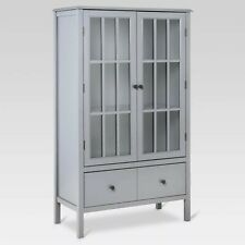 "Windham Tall Cabinet with Drawer - Threshold Gray 31.7"" x 53.5"" x 15.9"""