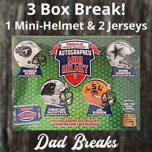 NEW ENGLAND PATRIOTS TriStar signed Mini-Helmet + 2 Jerseys: 3 BOX LIVE BREAK!