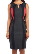 Joseph Ribkoff Color Block Sleeveless Sheath Dress U.S 12 UK 14 163299*