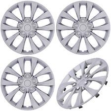 "4 pc Set Hub Cap ABS Silver 16"" Inch Rim Wheel Cover Replica Skin Covers Caps"