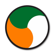 2 X IRISH ROUNDEL CIRCLE CAR VAN LORRY VINYL SELF ADHESIVE STICKERS