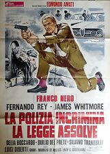 manifesto movie poster 2F La polizia incrimina la legge assolve castellari nero