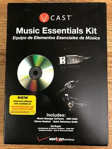 Verizon Music Essentials Kit with Stereo Headset USB Cable Software