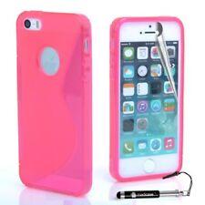 Fundas y carcasas transparentes Para iPhone SE color principal rosa para teléfonos móviles y PDAs
