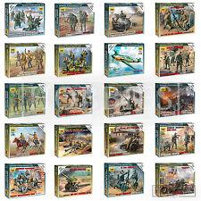 Zvezda Figures German Russian Soviet 1/72 WW2 Miniatures Infantry Recon Crew