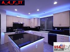 Kitchen Under Cabinet LED Glow RGB Light Strip 17ft SMD 5050 Kit Remote Power