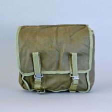 Army Surplus Soviet Army Olive Green Canvas Kit Bag Satchel Bicycle Pannier