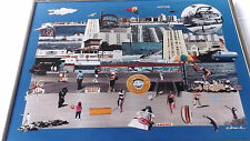 Coney Island NY Theme Eclectic History Framed Collage Images Photos Print Edward