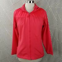 Nike Golf Womens size Large Neon Pink Lightweight Zip Up Jacket Lightweight