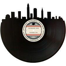 Cleveland Skyline Vinyl Record Art