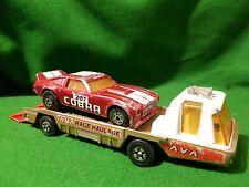 Matchbox Super Kings K-13-2 K-60 RARE AVA FORD Mustang race car transporter 207