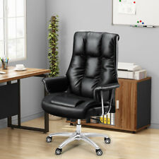 Ergonomic Executive Office Chair High Back Leather Desk Chair With Lumbar Support