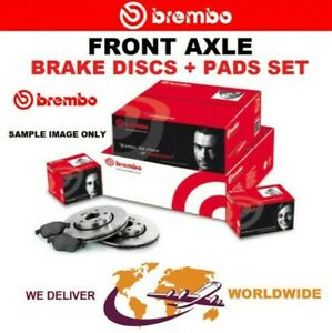 BREMBO Front BRAKE DISCS + PADS for FIAT DOBLO Chassis 1.6D Multijet 2016->on
