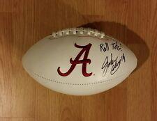 Alabama jake coker signed logo football w/coa