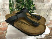 NEW Birkenstock Gizeh Women's Sandals Thong Flip Flops Black 0043691 AUTHENTIC