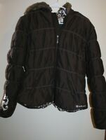 Ariat Girls Size XL Brown Puffer Coat Zip Front Clean Condition READ
