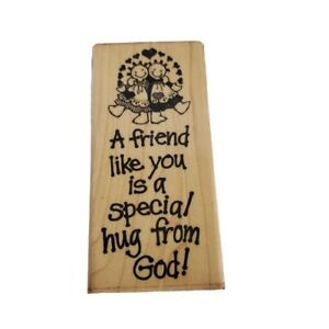 A Friend Like You Is A Special Hug From God Religious Rubber Stamp
