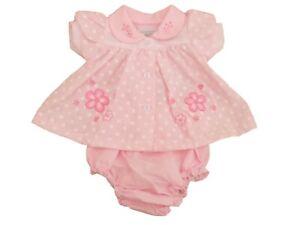 BNWT Tiny baby girls Premature Preemie pink & white flower dress 3-5lb  5-8lb