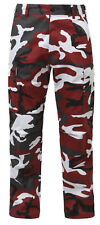 Red Camouflage Military BDU Cargo Bottoms Fatigue Trouser Camo Pants rothco 7915