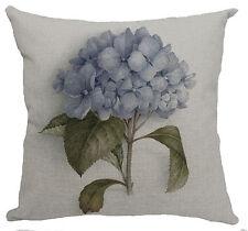 Kissenhülle Kissenbezug Motivkissen floral Hortensie Canvas-Stoff, 43 x 43 cm
