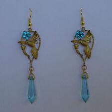 Turquoise Brass Drop/Dangle Costume Earrings