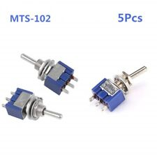 MTS-102 2 Position 3 Pins Mini Toggle Switch for Arduino Pack of 5pcs