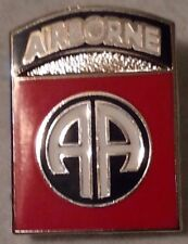 US ARMY 82nd Airborne Shield Pin Double Post