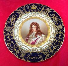 Magnifique assiette en porcelaine de SEVRES Louis XIV Château de Fontainebleau
