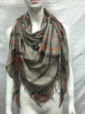 BLANKET SCARF SQUARE OVERSIZED ALL SEASON LIGHT WRAP SCARF PLAID C COLOR TAUPE