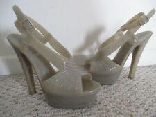 YSL Yves Saint Laurent Tribute Rubber Shoes Size 39 Platform Heels Italy