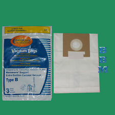 3 Type B Kenmore 24196 85003 634875 Allergen Vacuum Bags Extra Suction Galaxy