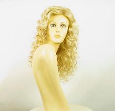 Perruque femme mi-longue blond doré méché blond très clair adelaide 24BT613