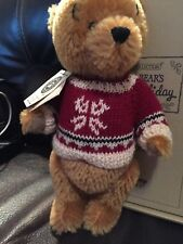 Boyds Bears Pooh Bears Winter Holiday Rare Retired Mohair Pooh