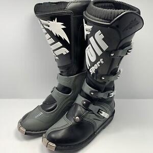 Used Wulf Sport Motorcycle Motocross Grey Black Boots EU 40 UK 6.5 Unisex
