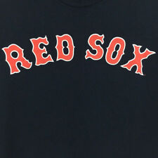 Boston Red Sox T-Shirt Majestic MLB Baseball Logo Navy Blue Red Tee Size XL
