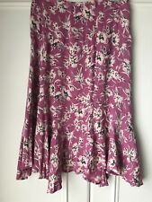 French Connection Ladies Swirly Skirt, Fuschia, Size 10, Viscose