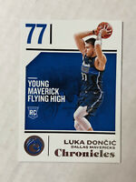 LUKA DONCIC 2018-19 Panini Chronicles BASE ROOKIE RC #71! MAVERICKS! INVEST NOW!