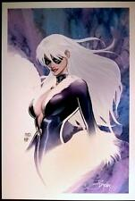 SEXY BLACK CAT ART PRINT by MICHAEL TURNER & PETER STEIGERWALD  / HTF